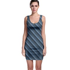 Diagonal Stripes Pinstripes Bodycon Dress by Nexatart