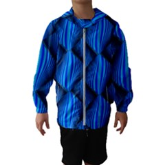 Abstract Waves Motion Psychedelic Hooded Wind Breaker (kids)