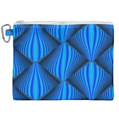 Abstract Waves Motion Psychedelic Canvas Cosmetic Bag (xxl)