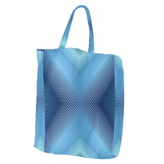 Converging Lines Blue Shades Glow Giant Grocery Zipper Tote