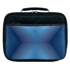 Converging Lines Blue Shades Glow Lunch Bag
