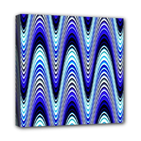 Waves Wavy Blue Pale Cobalt Navy Multi Function Bag	 by Nexatart