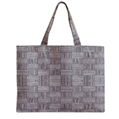Texture Wood Grain Grey Gray Zipper Mini Tote Bag