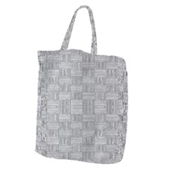 Texture Wood Grain Grey Gray Giant Grocery Zipper Tote by Nexatart