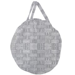 Texture Wood Grain Grey Gray Giant Round Zipper Tote