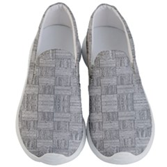 Texture Wood Grain Grey Gray Men s Lightweight Slip Ons