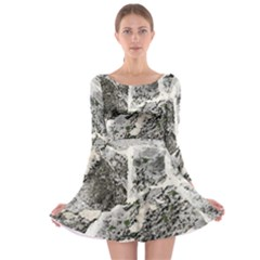 Coquina Shell Limestone Rocks Long Sleeve Skater Dress by Nexatart