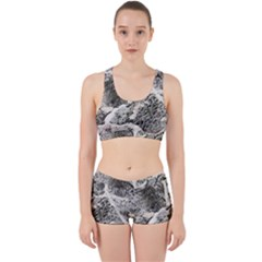 Coquina Shell Limestone Rocks Work It Out Sports Bra Set