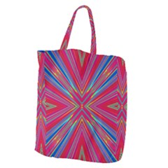 Burst Radiate Glow Vivid Colorful Giant Grocery Zipper Tote