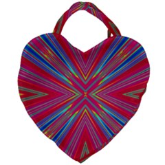 Burst Radiate Glow Vivid Colorful Giant Heart Shaped Tote by Nexatart