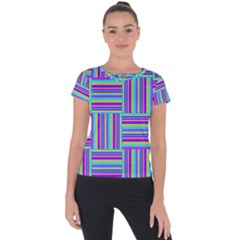 Geometric Textile Texture Surface Short Sleeve Sports Top