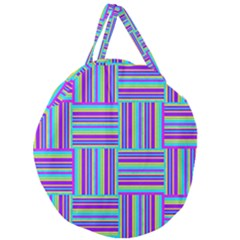 Geometric Textile Texture Surface Giant Round Zipper Tote