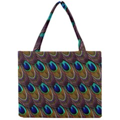 Peacock Feathers Bird Plumage Mini Tote Bag by Nexatart