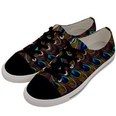 Peacock Feathers Bird Plumage Men s Low Top Canvas Sneakers by Nexatart