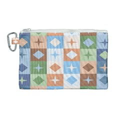 Fabric Textile Textures Cubes Canvas Cosmetic Bag (large)