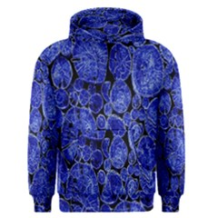 Neon Abstract Cobalt Blue Wood Men s Pullover Hoodie