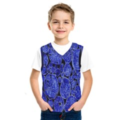 Neon Abstract Cobalt Blue Wood Kids  Sportswear by Nexatart