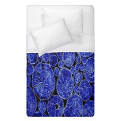 Neon Abstract Cobalt Blue Wood Duvet Cover (single Size)
