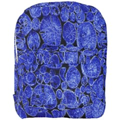 Neon Abstract Cobalt Blue Wood Full Print Backpack