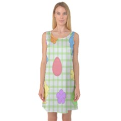 Easter Patches  Sleeveless Satin Nightdress