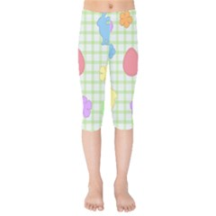 Easter Patches  Kids  Capri Leggings  by Valentinaart