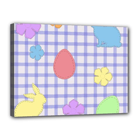 Easter Patches  Canvas 16  X 12  by Valentinaart