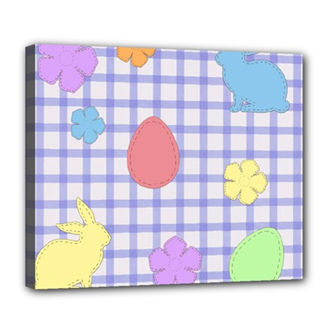 Easter Patches  Deluxe Canvas 24  X 20
