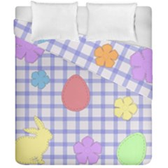 Easter Patches  Duvet Cover Double Side (california King Size)