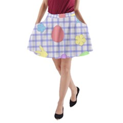 Easter Patches  A Line Pocket Skirt