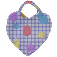 Easter Patches  Giant Heart Shaped Tote by Valentinaart