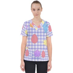 Easter Patches  Scrub Top