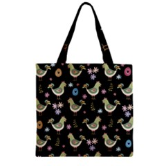 Easter Pattern Zipper Grocery Tote Bag by Valentinaart