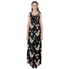 Easter Pattern Empire Waist Maxi Dress
