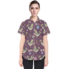 Easter Pattern Women s Short Sleeve Shirt