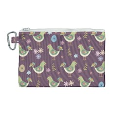 Easter Pattern Canvas Cosmetic Bag (large) by Valentinaart