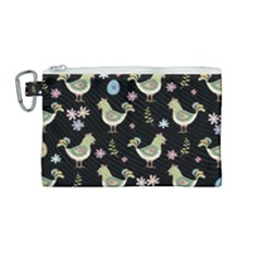 Easter Pattern Canvas Cosmetic Bag (medium) by Valentinaart