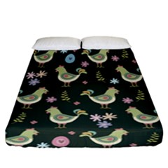 Easter Pattern Fitted Sheet (california King Size) by Valentinaart