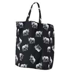 Rhino Pattern Giant Grocery Zipper Tote by Valentinaart