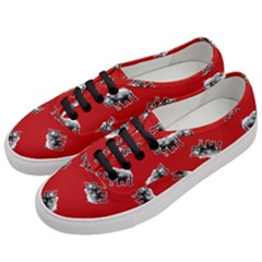 Rhino Pattern Women s Classic Low Top Sneakers by Valentinaart