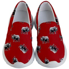 Rhino Pattern Kid s Lightweight Slip Ons by Valentinaart