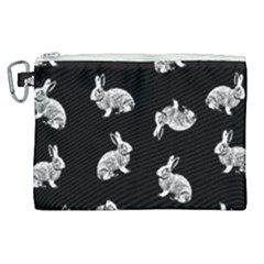 Rabbit Pattern Canvas Cosmetic Bag (xl) by Valentinaart