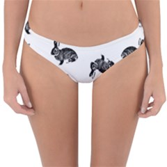 Rabbit Pattern Reversible Hipster Bikini Bottoms