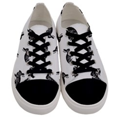 Rabbit Pattern Men s Low Top Canvas Sneakers