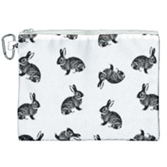 Rabbit Pattern Canvas Cosmetic Bag (xxl) by Valentinaart