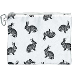 Rabbit Pattern Canvas Cosmetic Bag (xxxl) by Valentinaart
