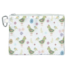 Easter Pattern Canvas Cosmetic Bag (xl) by Valentinaart