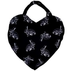Rabbit Pattern Giant Heart Shaped Tote