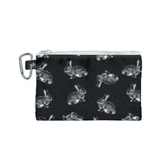 Rabbit Pattern Canvas Cosmetic Bag (small) by Valentinaart