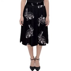 Rabbit Pattern Folding Skater Skirt