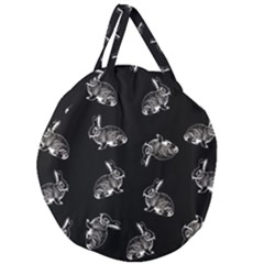 Rabbit Pattern Giant Round Zipper Tote